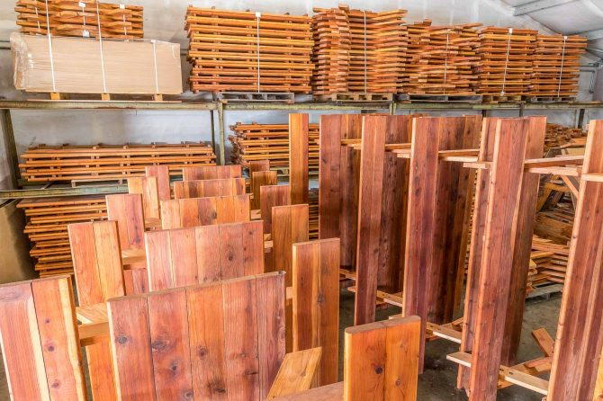Redwood Furniture in Warehouse