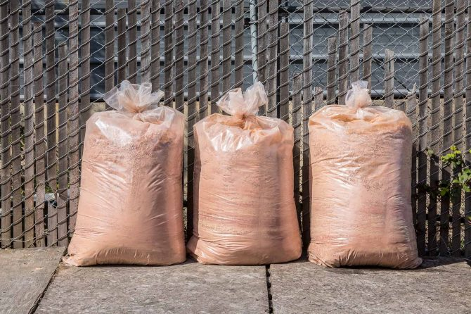 Redwood Sawdust in Bags