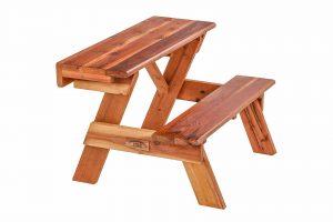Redwood Wall Hugger Table
