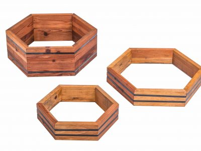 Hexagon Redwood Raised Beds