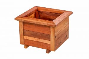 18 Inch Raised Redwood Planter Box