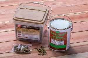 Redwood Sealer and Fasteners