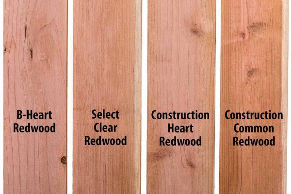 Redwood Lumber Grades