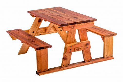 Step-Side Redwood Table