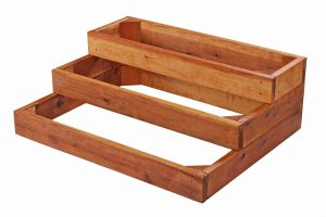 Redwood Three Tier Planter Bed