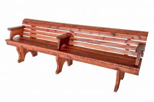 8-foot Redwood Bench, with Back and Arms