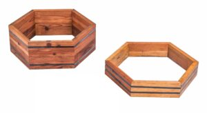 Hexagon Redwood Raised Beds